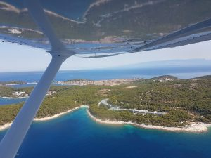 Artatore and Lošinj from airplane